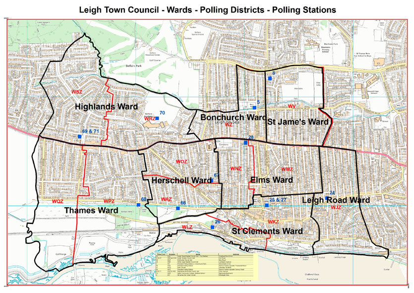 Leigh on sea polling districts